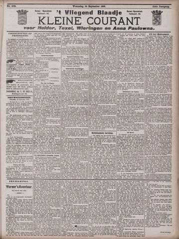 Vliegend blaadje : nieuws- en advertentiebode voor Den Helder 1903-09-30