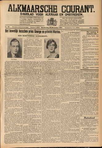 Alkmaarsche Courant 1934-11-29