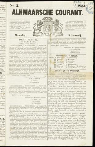 Alkmaarsche Courant 1854-01-09