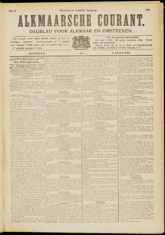 Alkmaarsche Courant 1910-01-04