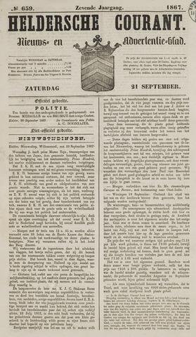 Heldersche Courant 1867-09-21