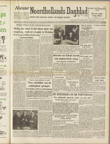 Nieuw Noordhollandsch Dagblad : voor Alkmaar en omgeving 1949-12-19