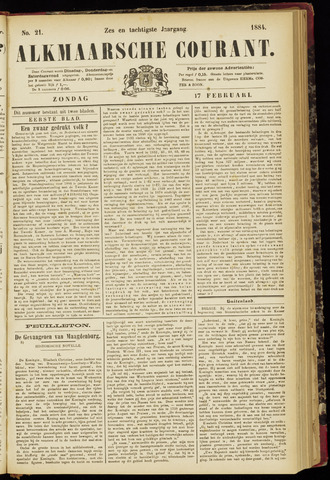 Alkmaarsche Courant 1884-02-17