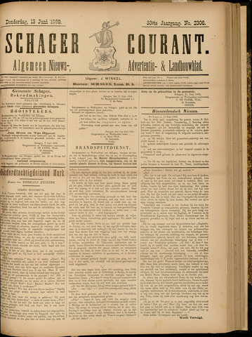 Schager Courant 1889-06-13
