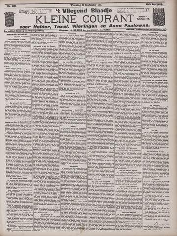 Vliegend blaadje : nieuws- en advertentiebode voor Den Helder 1912-09-11