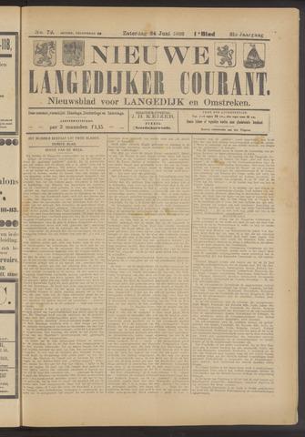 Nieuwe Langedijker Courant 1922-06-24
