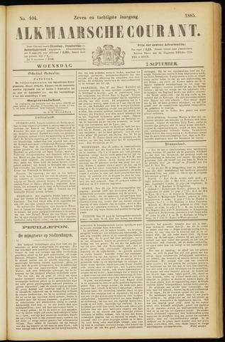 Alkmaarsche Courant 1885-09-02