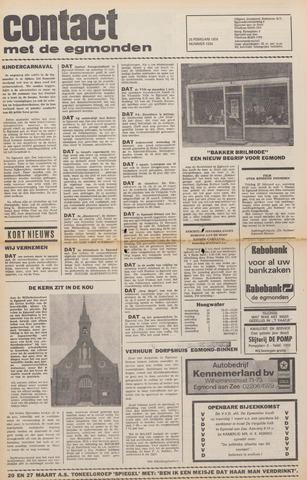 Contact met de Egmonden 1976-02-25