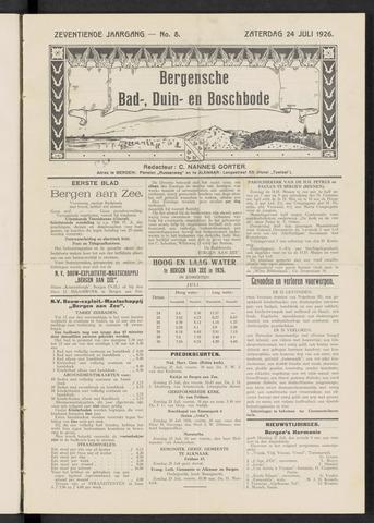 Bergensche bad-, duin- en boschbode 1926-07-24