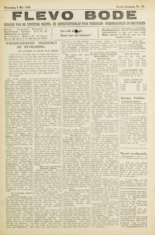 Flevo-bode: nieuwsblad voor Wieringen-Wieringermeer 1946-05-08