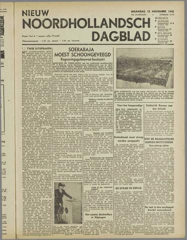 Nieuw Noordhollandsch Dagblad : voor Alkmaar en omgeving 1945-11-12