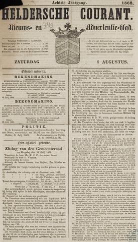 Heldersche Courant 1868-08-01