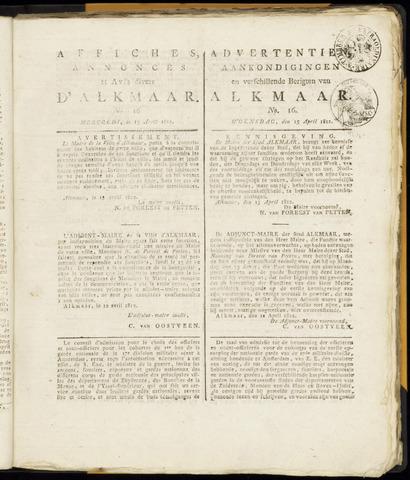 Alkmaarsche Courant 1812-04-15
