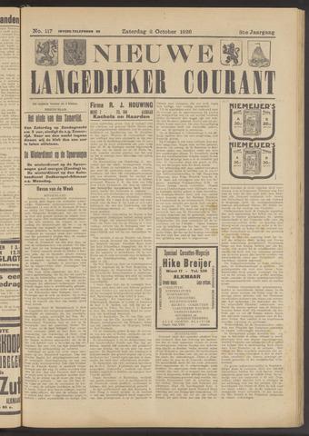 Nieuwe Langedijker Courant 1926-10-02