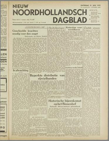 Nieuw Noordhollandsch Dagblad : voor Alkmaar en omgeving 1945-07-21