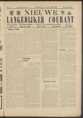 Nieuwe Langedijker Courant 1933-01-31