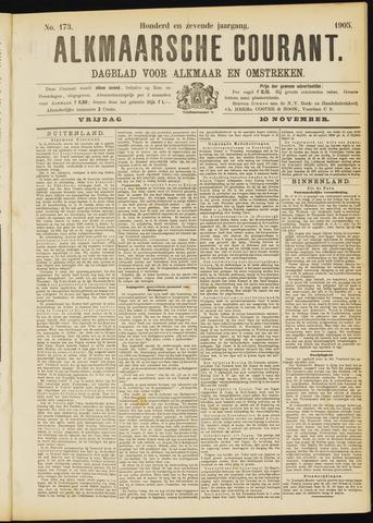 Alkmaarsche Courant 1905-11-10