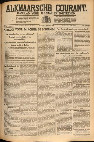 Alkmaarsche Courant 1939-09-06
