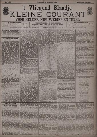 Vliegend blaadje : nieuws- en advertentiebode voor Den Helder 1886-11-17