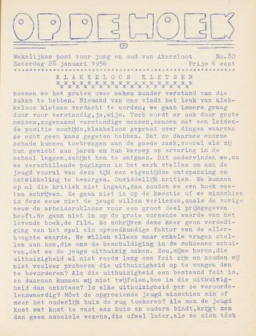 Op De Hoek, weekblad voor Akersloot 1956-01-28