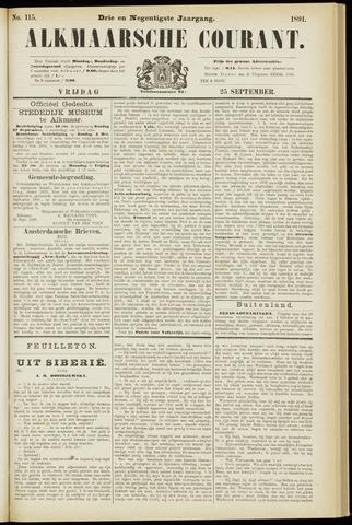 Alkmaarsche Courant 1891-09-25