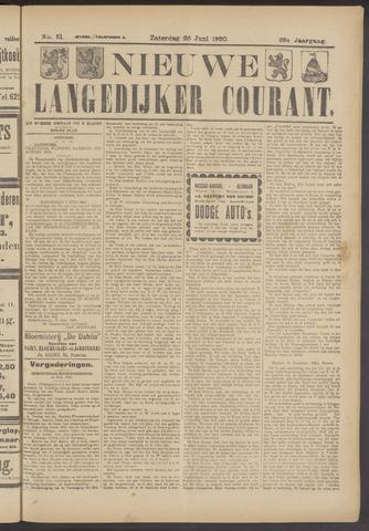 Nieuwe Langedijker Courant 1920-06-26
