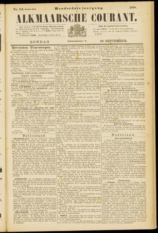 Alkmaarsche Courant 1898-09-25