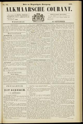 Alkmaarsche Courant 1891-09-16