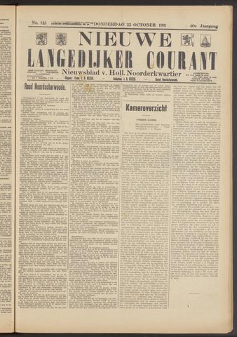 Nieuwe Langedijker Courant 1931-10-22