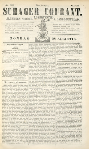 Schager Courant 1881-08-28