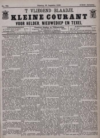 Vliegend blaadje : nieuws- en advertentiebode voor Den Helder 1880-08-10