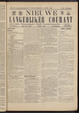 Nieuwe Langedijker Courant 1931-04-02