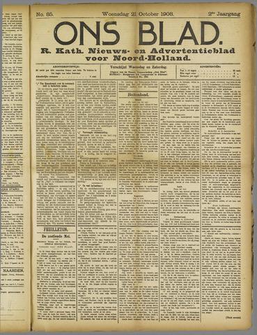 Ons Blad : katholiek nieuwsblad voor N-H 1908-10-21