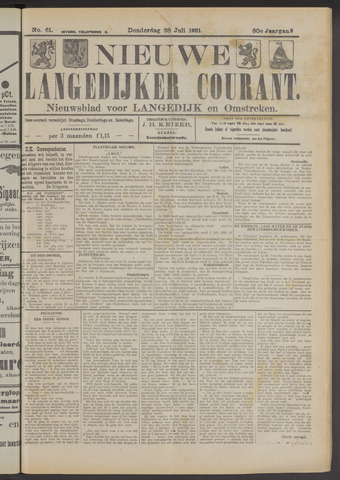 Nieuwe Langedijker Courant 1921-07-28