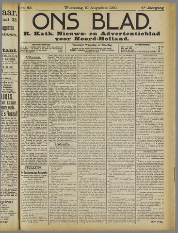 Ons Blad : katholiek nieuwsblad voor N-H 1910-08-10
