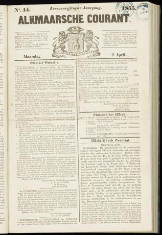 Alkmaarsche Courant 1855-04-02