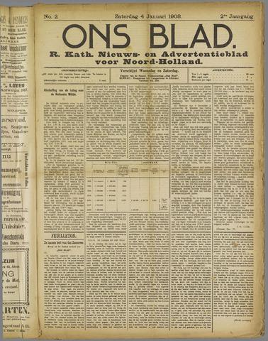 Ons Blad : katholiek nieuwsblad voor N-H 1908-01-04