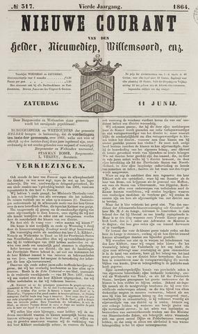 Nieuwe Courant van Den Helder 1864-06-11