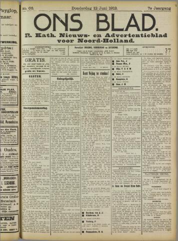 Ons Blad : katholiek nieuwsblad voor N-H 1913-06-12