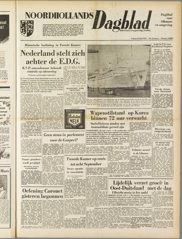 Noordhollands Dagblad : dagblad voor Alkmaar en omgeving 1953-07-24