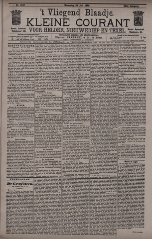 Vliegend blaadje : nieuws- en advertentiebode voor Den Helder 1896-07-29