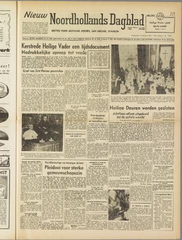 Nieuw Noordhollandsch Dagblad : voor Alkmaar en omgeving 1950-12-27