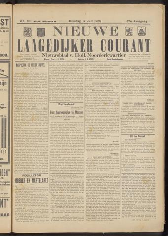 Nieuwe Langedijker Courant 1928-07-17