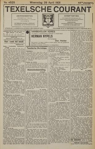 Texelsche Courant 1931-04-29