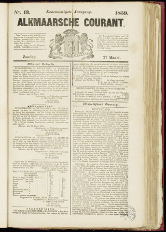 Alkmaarsche Courant 1859-03-27