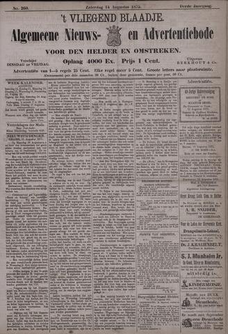 Vliegend blaadje : nieuws- en advertentiebode voor Den Helder 1875-08-14