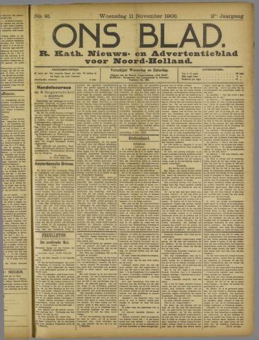 Ons Blad : katholiek nieuwsblad voor N-H 1908-11-11