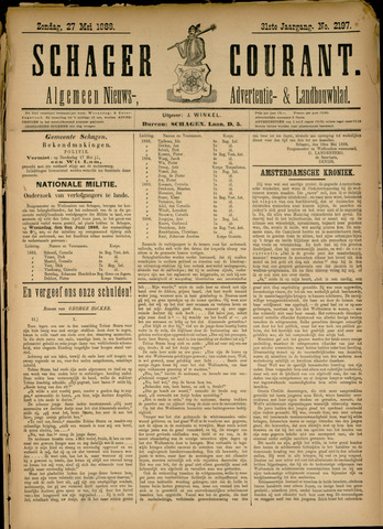 Schager Courant 1888-05-27