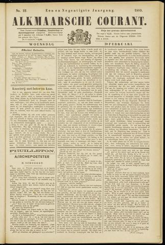 Alkmaarsche Courant 1889-02-20
