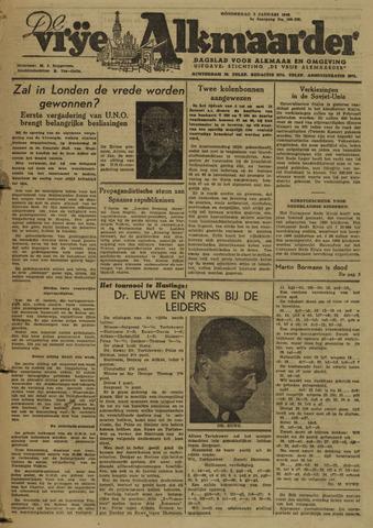 De Vrije Alkmaarder 1946-01-03